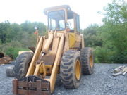 1980 JOHN DEER 544B WHEEL LOADER,  WITH FORKS AND BUCKET