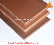 Copper Composite Panel for façade cladding
